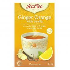 Ceai ghimbir, portocale si vanilie bio 17 plicuri