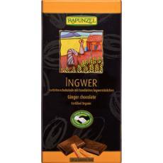 Ciocolata amaruie cu cacao si ghimbir bio 80 g