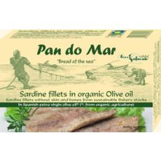 Sardine file in ulei de masline extravirgin bio 120 g