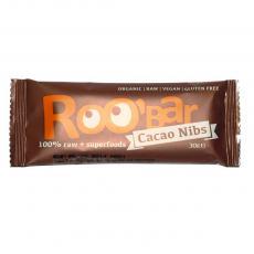 Baton cacao miez si migdale raw bio 30 g